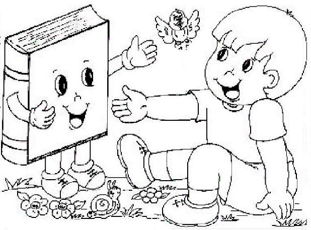 Desenho De Biblioteca Para Colorir: ♥ProfªAnanda♥: Livros E Leitura Para Colorir