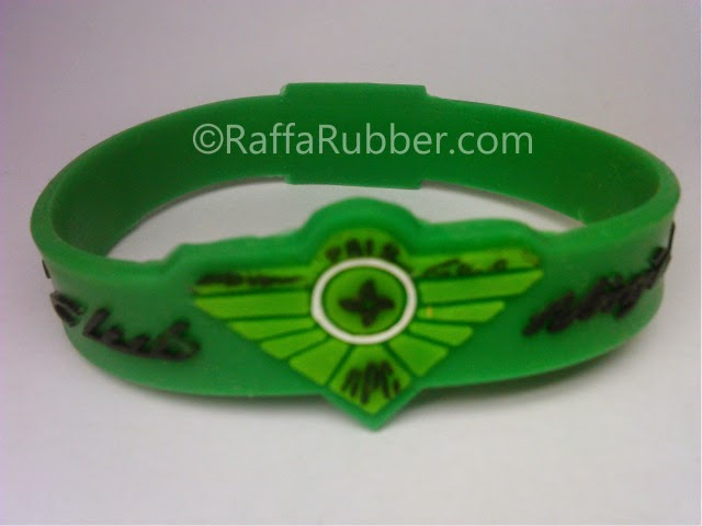 gelang karet customized shape