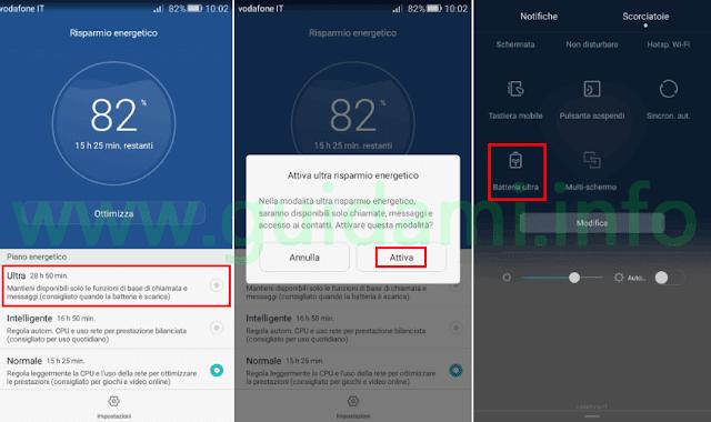 Huawei attivare Ultra risparmio energetico