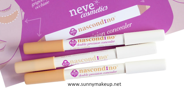 Neve Cosmetics - Nascondino Double Precision Concealer. Correttori nelle colorazioni Fair, Light, Medium.