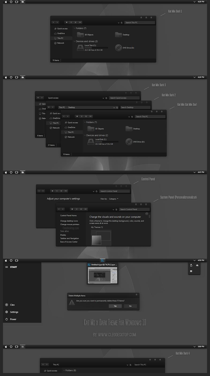 Kat Mix Dark Theme For Windows10 2004