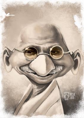 Funny Mahatma Gandhi by endarte on DeviantArt