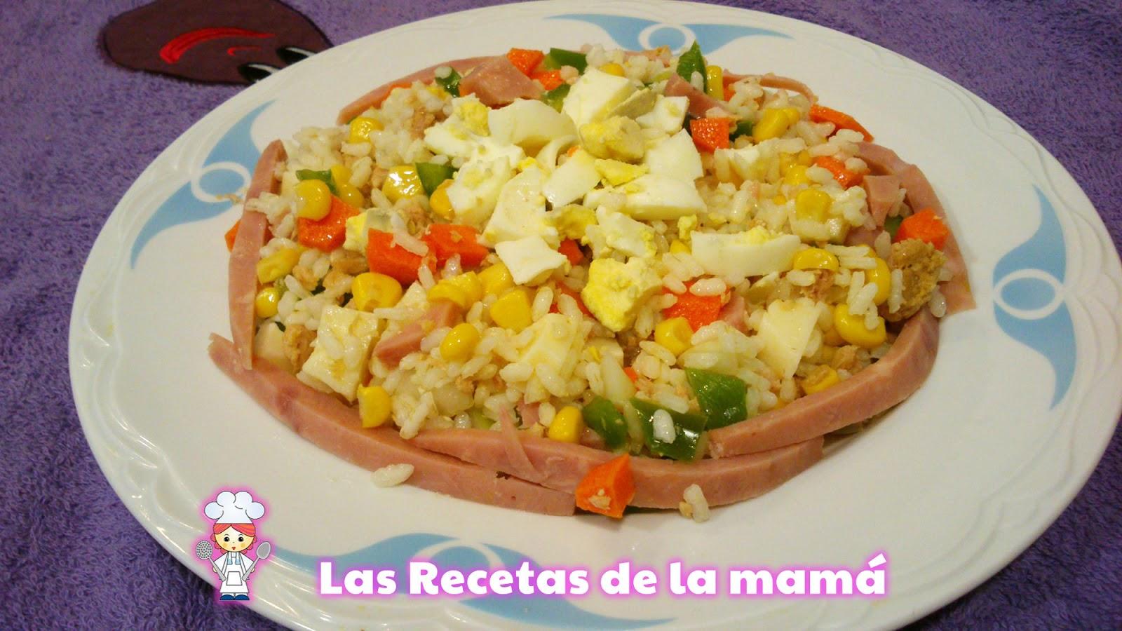 Las recetas de la mam receta de ensalada de arroz primavera - Ensalada de arroz light ...