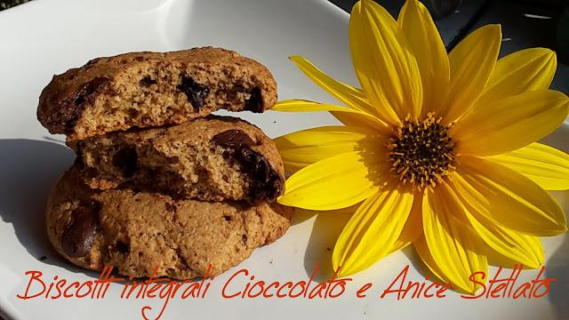 biscotti integrali con cioccolato e anice stellato