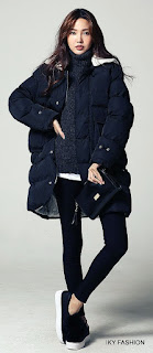 Model Sweater dan Jaket Parka cewek kekinian ala korea