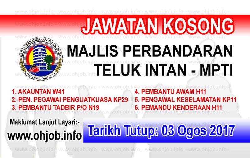 Jawatan Kerja Kosong Majlis Perbandaran Teluk Intan - MPTI logo www.ohjob.ingo ogos 2017