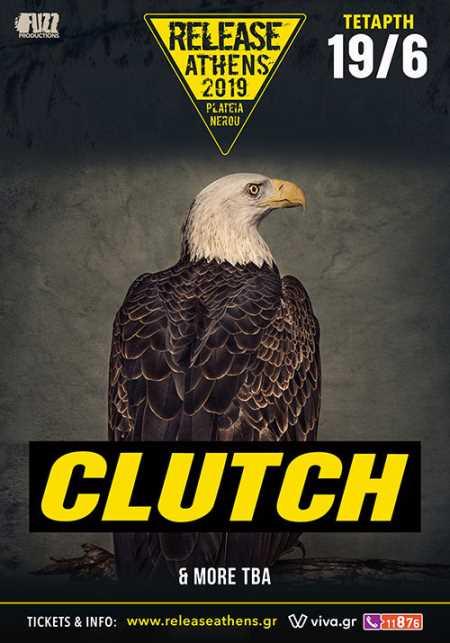 CLUTCH: Τετάρτη 19 Ιουνίου στο Release Athens