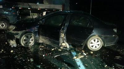 Bandidos trocam tiros com Carro Forte na BR-116  próximo Posto Fazendeiro em Miracatu