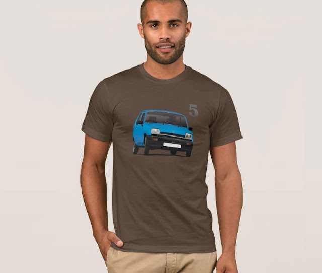 Renault 5 blue t-shirts
