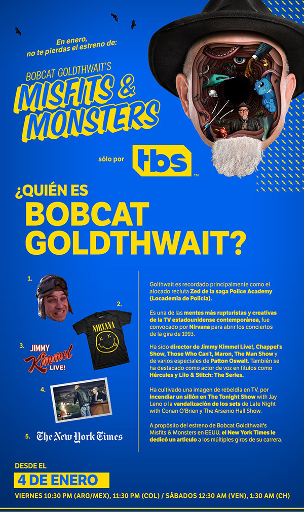 enero-TBS-Bobcat-Goldthwaits-Misfits-Monsters-serie-series