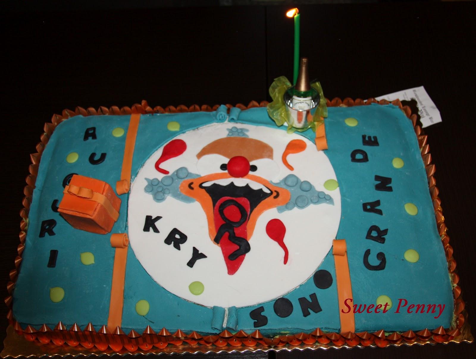 Cucinare con sweetpenny in allegria torta krasty il clown for Cucinare anni 50