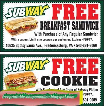 subway restaurant coupons 2019