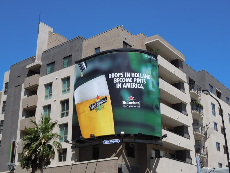 Heineken Drops in Holland billboard