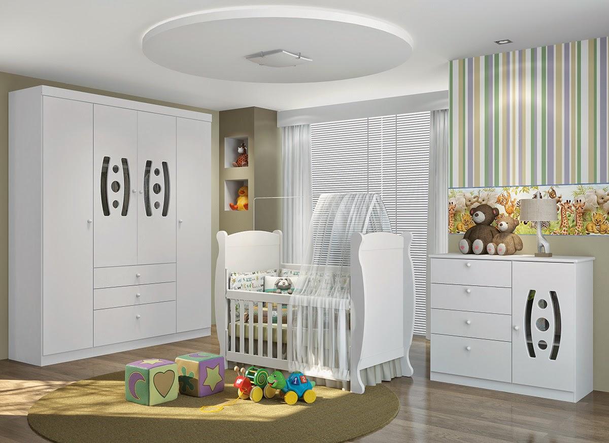 Dormitorios de bebé en color blanco - Dormitorios colores y estilos