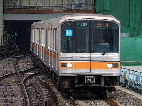 既に消滅した01系LED車の銀座線 渋谷行き(2016年 渋谷駅改良工事前に撮影)