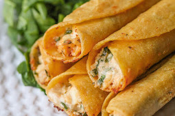 Cream Cheese and Chicken Taquitos #withcreamcheese #delicious
