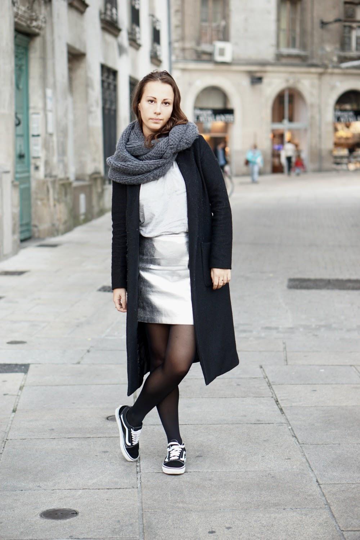 jupe argenté