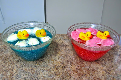 Duck Baby Shower, duck punch, blue and pink punch