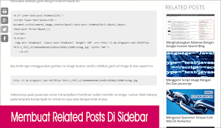 Cara Membuat Related Post pada Sidebar Blogspot