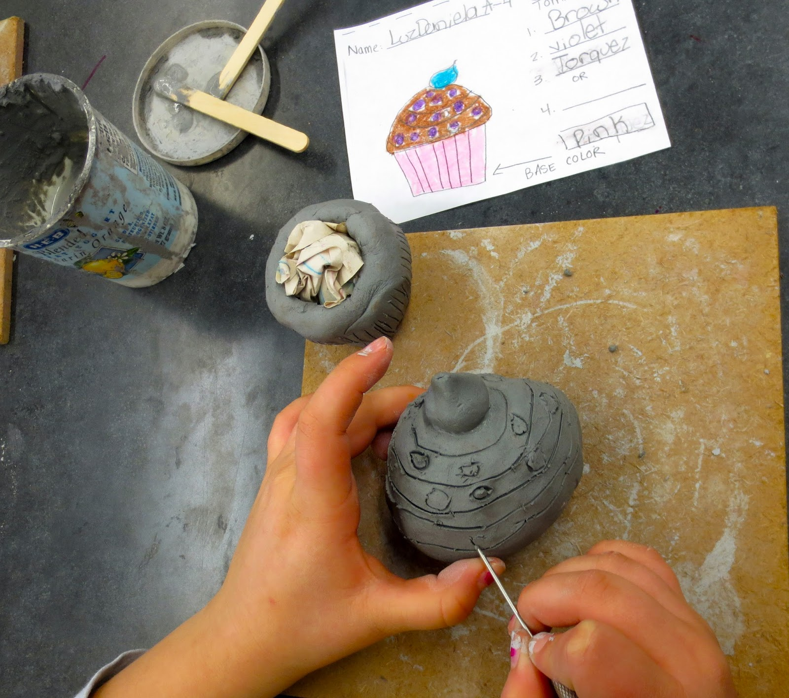 Container Home Plans: Zilker Elementary Art Class: 4th Grade Clay Cupcake Sculptures