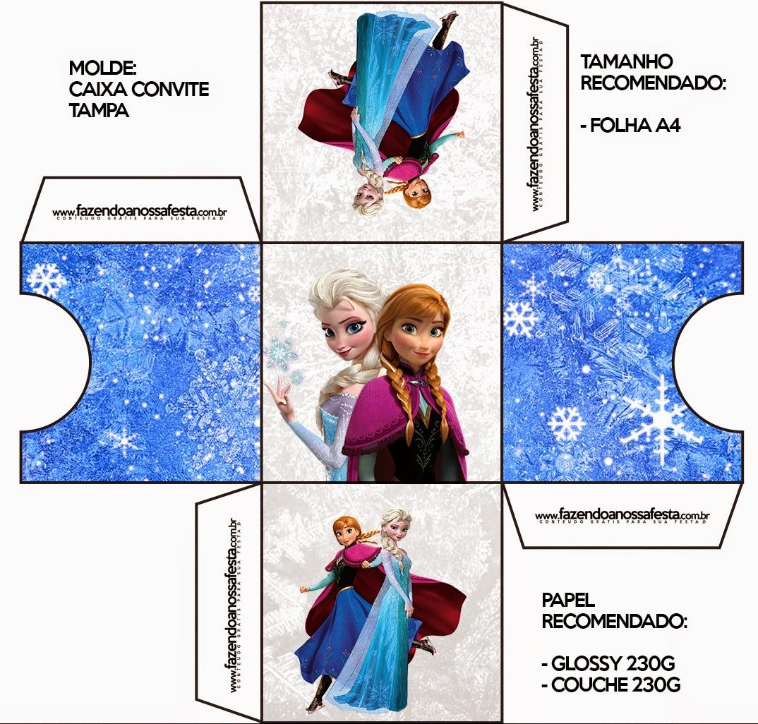 Caja invitacion de Frozen.