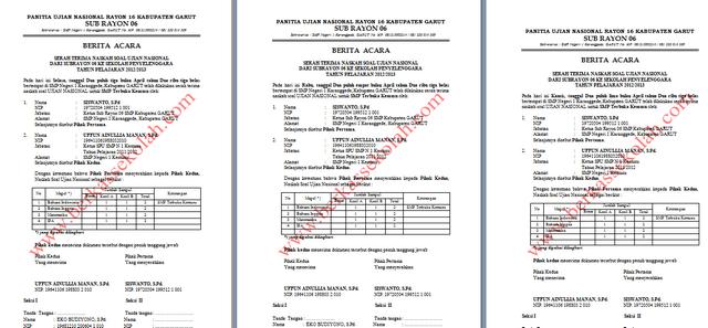 Info Un Download Berita Acara Serah Terima Naskah Soal Ujian