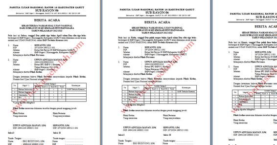 Info Un Download Berita Acara Serah Terima Naskah Soal Ujian Nasional Berkas Sekolah
