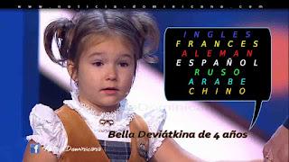 Niña rusa de 4 años habla 7 idiomas diferentes - ND TOP
