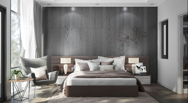 these grey panels are perfect for a modern space like this one