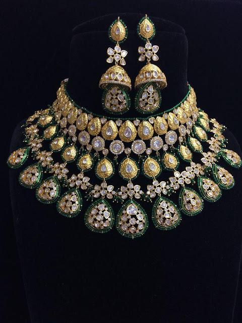 Flat Diamond Rich Bridal Chokers