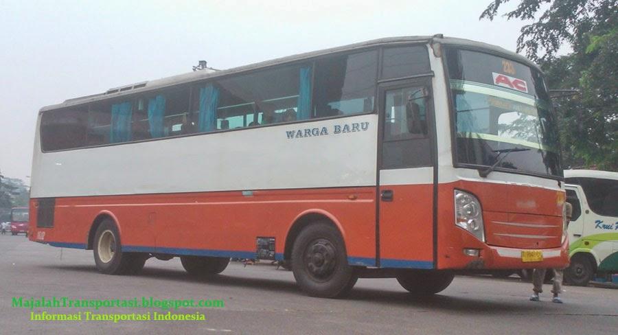 rute dan tarif bus warga baru