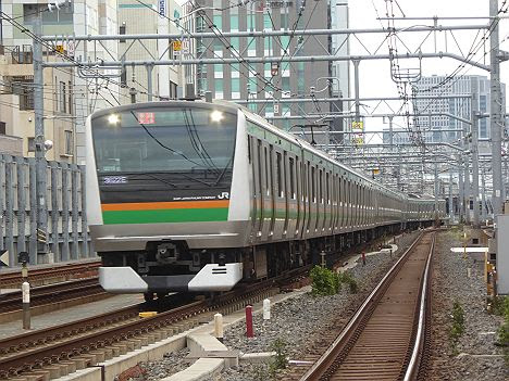 【早朝限定!】上野東京Lを走るE233系快速ラビット 宇都宮行き