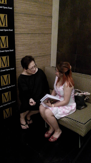 The blogger with the co-author, ms. coylee gamboa