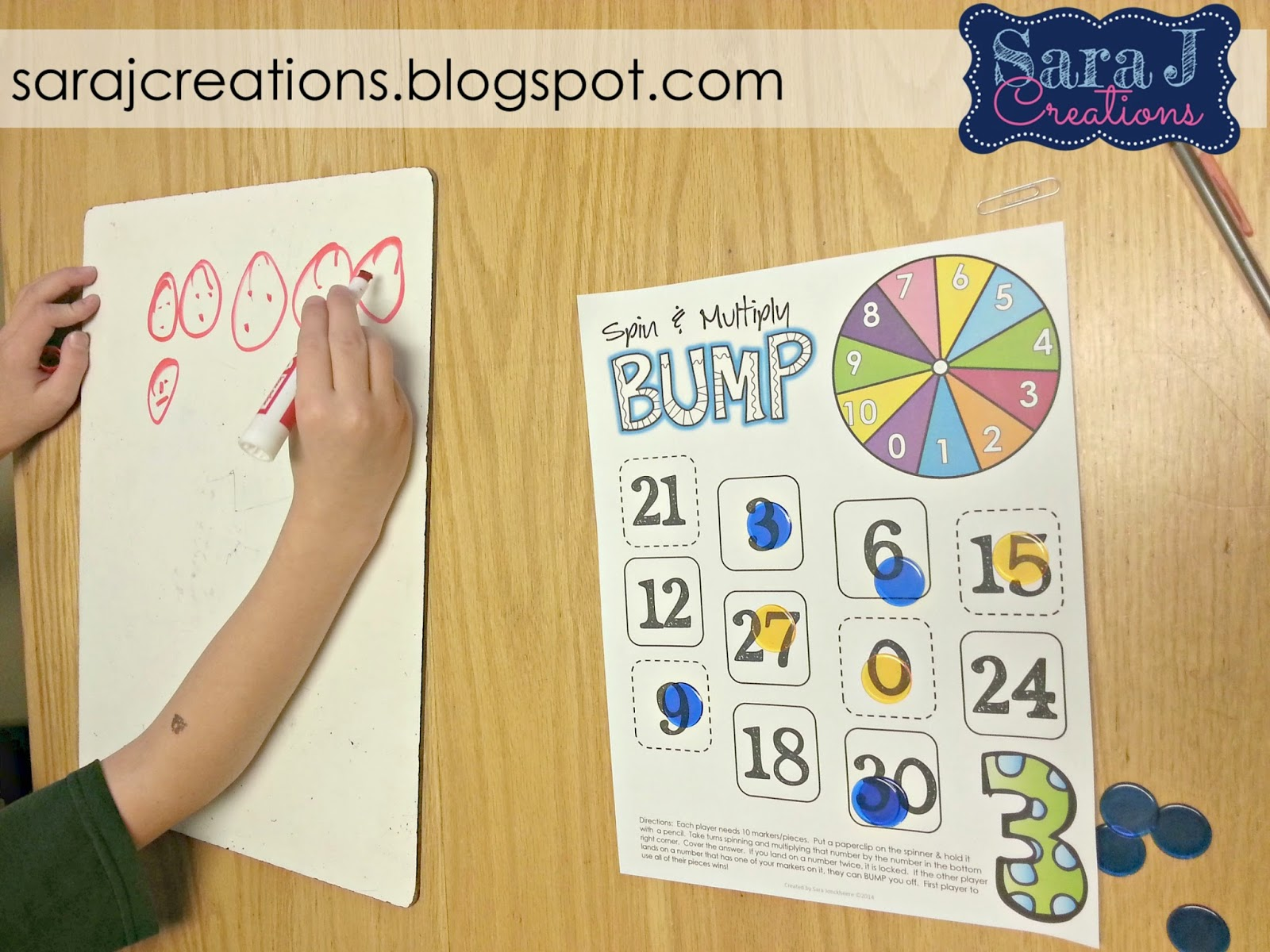 Multiplication games to make practicing math facts more fun!