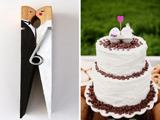 topo de bolo simples para casamento