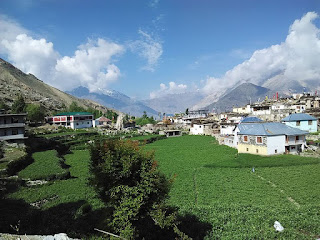 view of nako village himachal pradesh