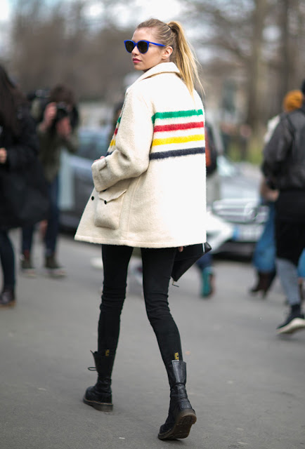 fall 2016, colorful jacket, combat boots, street style, spring 2016, trends, fashion week, NYFW, PFW, LFW, new york fashion week, paris fashion week, london fashion week