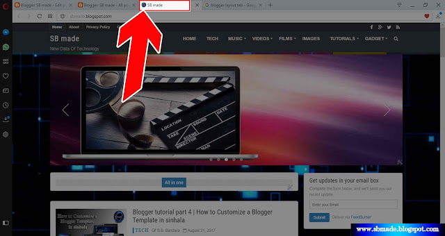 Customize a Blogger Layout Tab