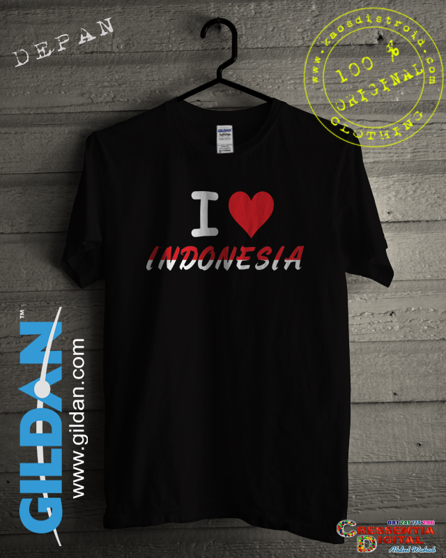 Baju Kaos Cinta Indonesia