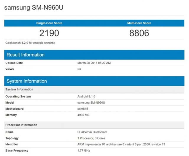 galaxy-note-9-geekbench-specs-leaked