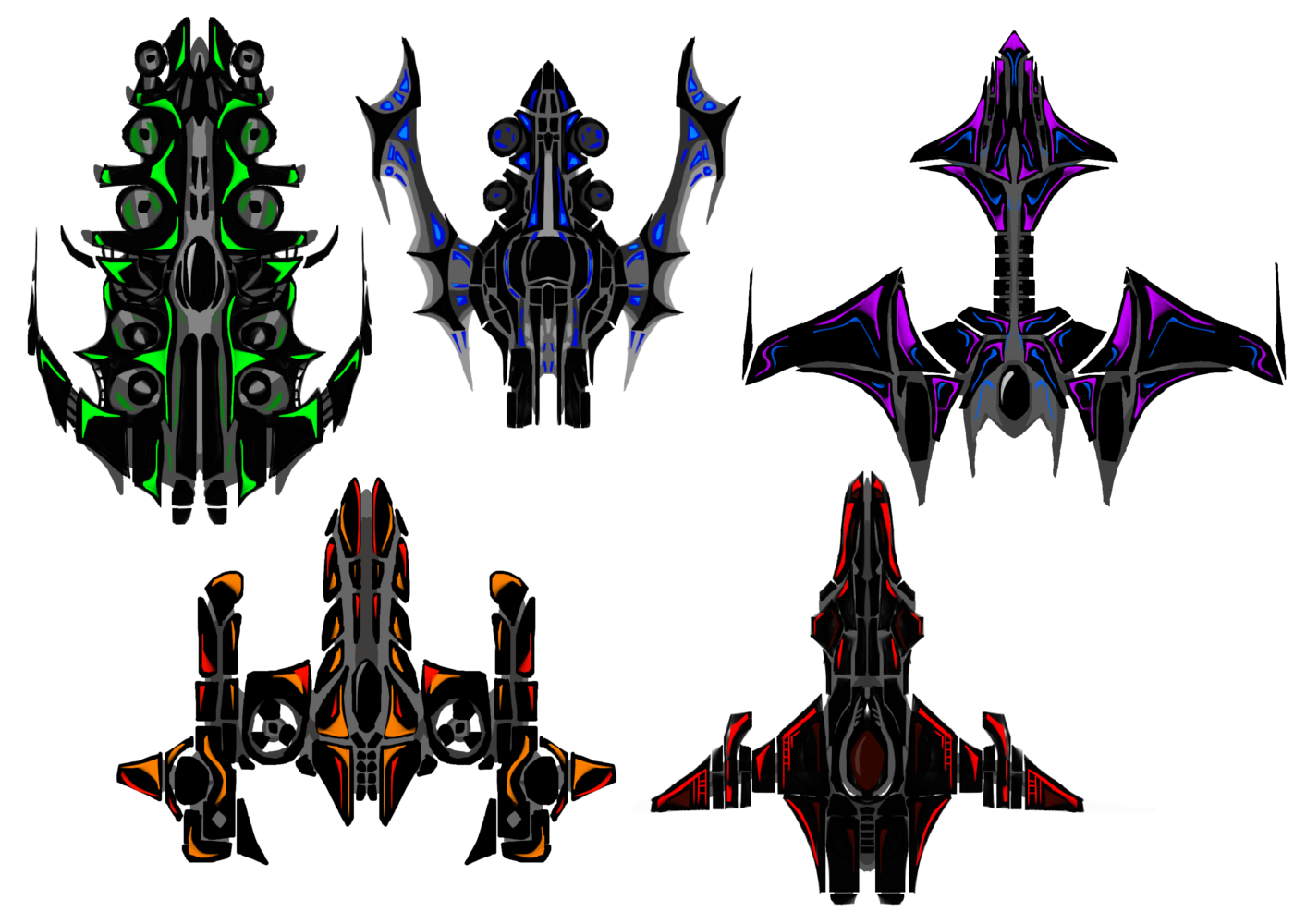MillionthVector: Spaceship Fighter Concepts
