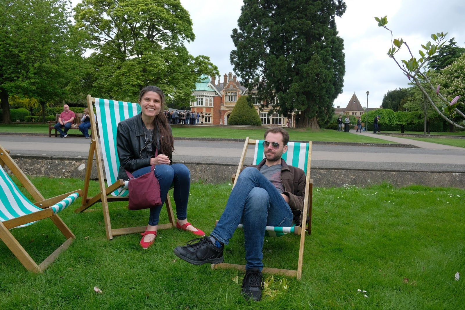 Deckchairs at Bletchley Park