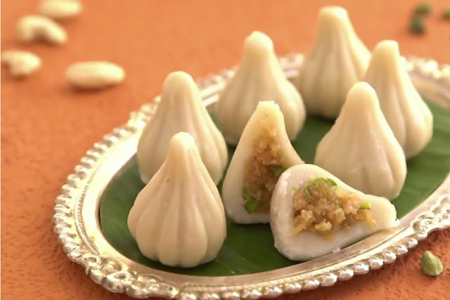 Peanut and Coconut spicy modak