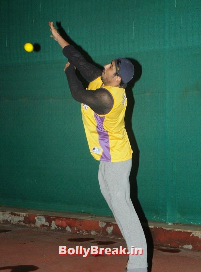 Prateik Babbar, Pics from BCL Team Rowdy Bangalore Practice Match
