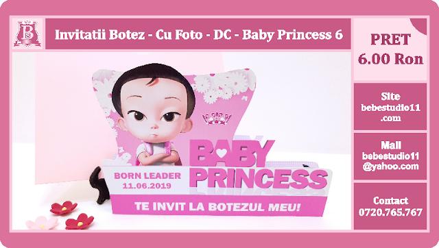invitatii botez Baby Princess