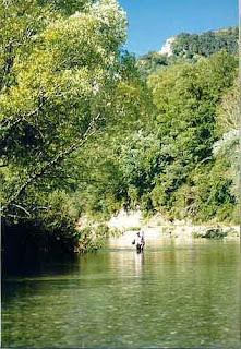 Pescando en el Roncal