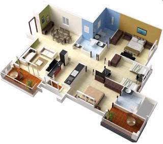 3 bedroom house plans - Modern Family House Plans