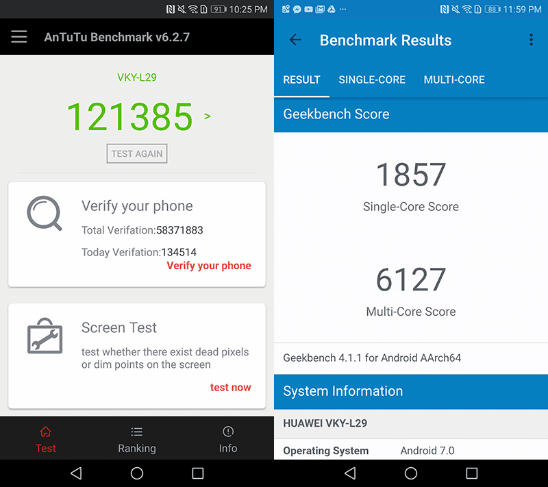 Good Antutu score, beastly GeekBench score