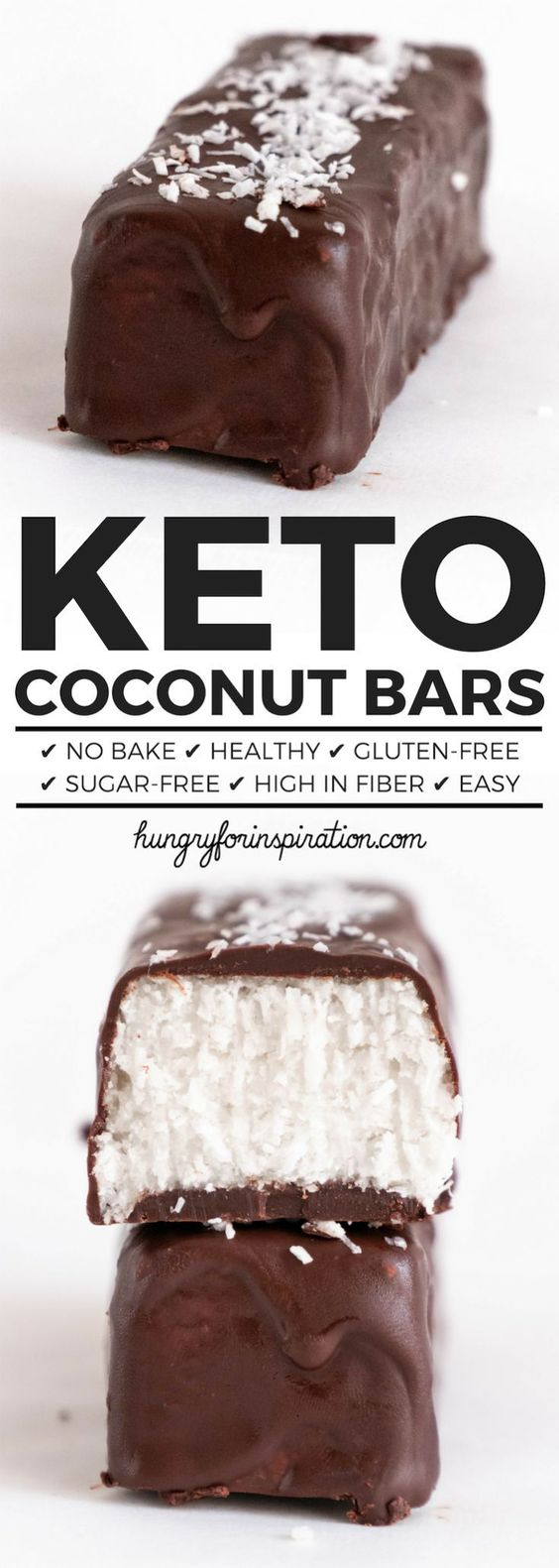 Healthy No Bake Keto Coconut Bars (Homemade Mounds Bars/ Bounty Bars)