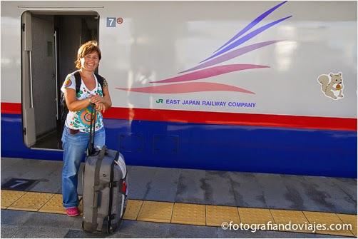 shinkansen maleta viajera